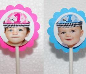 PHOTO PERSONALIZED Little Rebel Cupcake Party Toppers - Custom